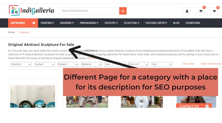 Paginating categories for Ecommerce website
