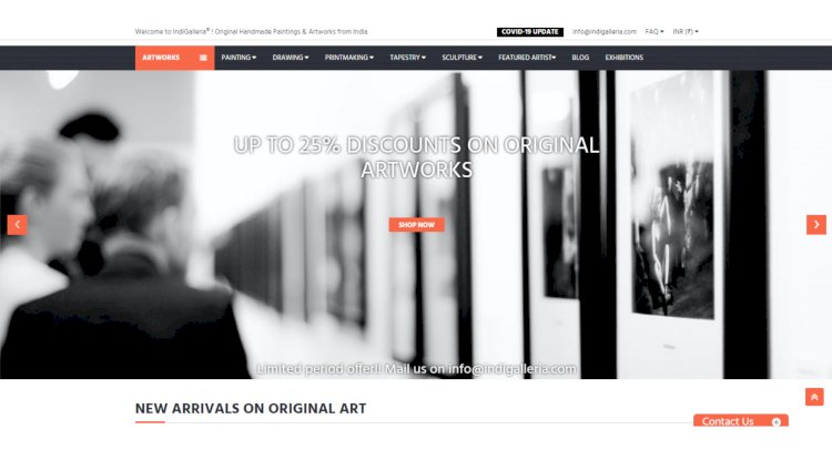 Offering Discounts on Homepage of IndiGalleria