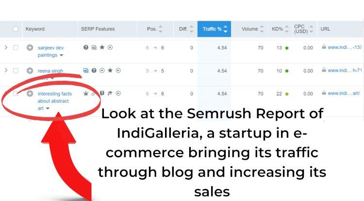 IndiGalleria Semrush REPORT