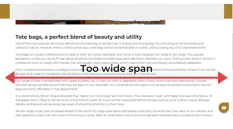 Poor design for Blogs